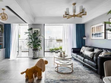 126平优雅静谧美式公寓,简洁大方