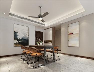 客厅+书房,满足多功能娱乐空间-世贸石湖湾小区168平米4室北欧装修案例