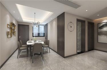 看一眼就心动!135㎡现代风的简洁和内涵-日月星城小区135平米3室现代装修案例
