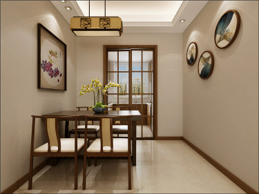 140㎡新中式格调高雅,简朴优美-绿地国际城小区140平米4室新中式装修案例