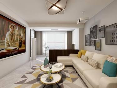利用色彩搭配,提高了空间的利用率,充满现代化气息,更富有活力。