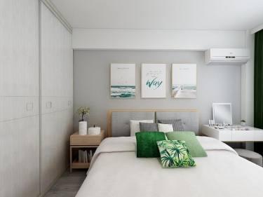 利用色彩搭配,提高了空间的利用率,充满现代化气息,更富有活力。-龙祥小区小区73.9平米2室现代装修案例