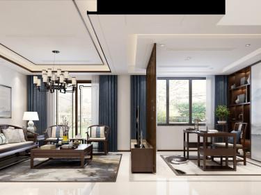 宁静致远的东方美-翠逸花园(璞悦湾)小区220平米跃层/复式新中式装修案例