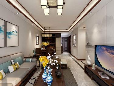 90平巧妙设计,打造新中式湖景房-太湖汇景小区93平米3室现代装修案例