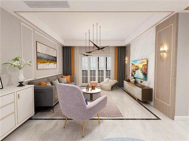 138平现代风格,不浪费角落空间-华润国际剑桥澜湾小区138平米5室现代装修案例