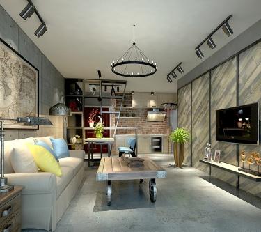 超个性现代工业风,年轻人可以聚集分享的家-格林世界小区65平米1室现代装修案例