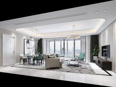 150平明快简约现代风,各个房间温馨又舒适-建发泱誉小区150平米4室现代装修案例
