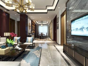 业主高度认同的160平奢华高贵新中式之家