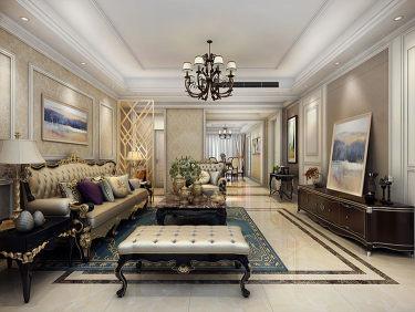 追求品质典雅,190平欧式家,职场精英的最爱-唐郡小区190平米4室欧式装修案例