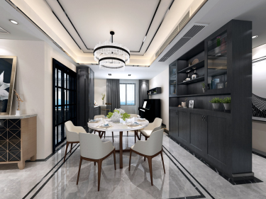 芜湖133平现代简约风-公园大道小区133平米3室现代装修案例