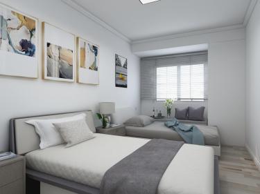 让人一看就喜欢的四居简约北欧风-上善名郡小区122平米4室北欧装修案例