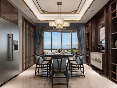140平新中式,你就该这么装-三巽一号院小区140平米4室新中式装修案例