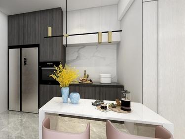 小户型,也可以简约而不简单-绿岩新村小区65平米2室现代装修案例