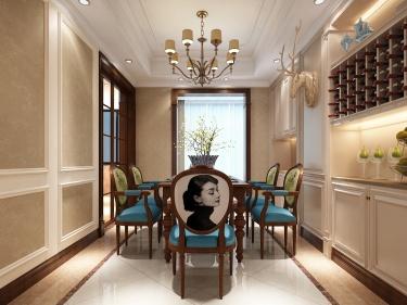 248平美式大平层,为你装饰属于你的美宅-山水香堤小区248平米5室美式装修案例