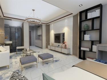 每个单身的人都应该有这样的一个公寓-清扬公寓小区74平米2室现代装修案例
