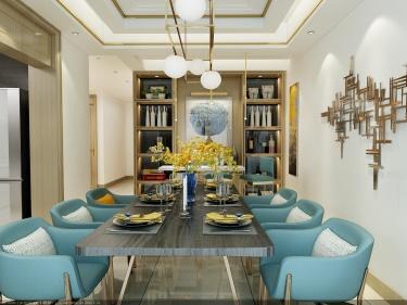 可以开party超舒适的现代风格!-黄河龙城小区252平米跃层/复式现代装修案例
