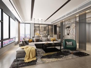 180平超赞的 充满质感的现代风-玉兰花园小区180平米4室现代装修案例