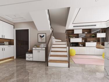 艺术的高颜值空间 150平米现代生活-皖江一号院小区150平米5室现代装修案例