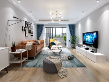北欧+现代的完美融合,147m²三居室的清新自然