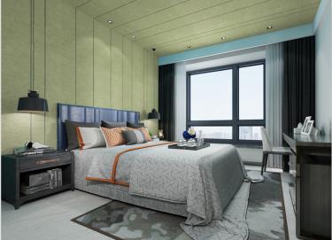 现代中式,给生活以清隽的滋味-水岸小镇小区260平米4室现代装修案例