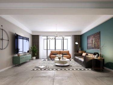 160平优雅北欧风-花样年禧悦小区160平米4室北欧装修案例