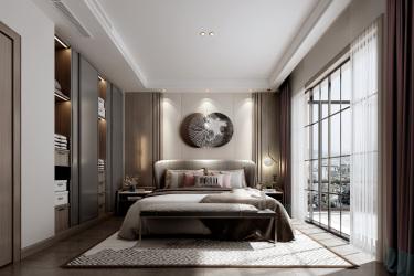 246平别墅现代卧室