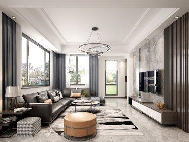 现代气派的246平私家大宅,享受高品质生活-秦馀山庄小区246平米别墅现代装修案例