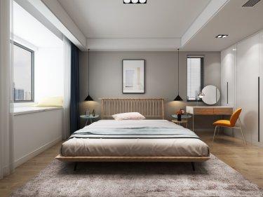 94平现代简约温馨小空间-金地名悦小区94平米3室现代装修案例