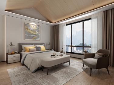 650平别墅现代卧室