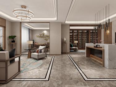 豪华新中式 感受悠闲的生活气息-春城十八里小区730平米别墅新中式装修案例