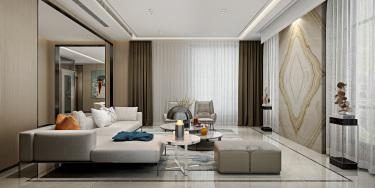 650平别墅现代客厅