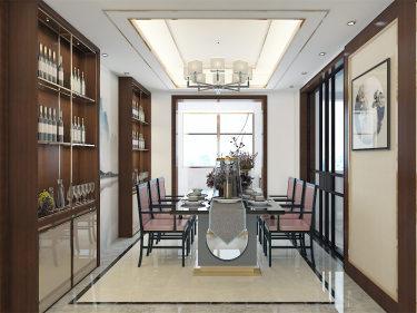 新中式诠释中国的特色-安瑞家园小区138平米5室新中式装修案例