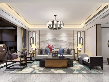 中国人的时尚与风雅—最美新中式-融创81栋小区300平米跃层/复式新中式装修案例