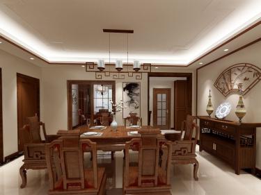 """175平米古朴新中式,有你喜欢的""""味道""""-阳光水岸小区175.9平米3室中式装修案例"""