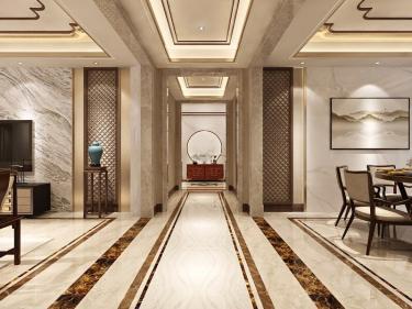 280平5室新中式客厅