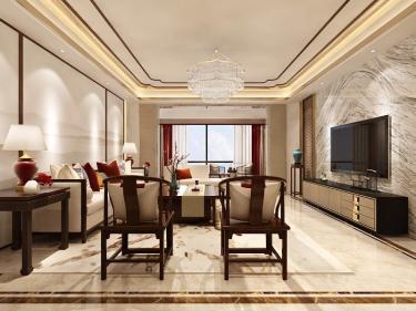 280平5室新中式餐厅