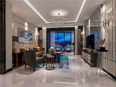 这套大平层案例形与色融为一体,给设计师点赞-雅居乐御宾府小区230平米5室现代装修案例
