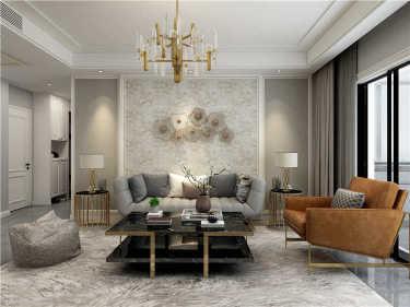 140平轻奢美式空间-泰元家园小区140平米4室美式装修案例