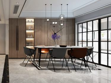 轻奢,高贵而简约的完美融合,112平米现代风格