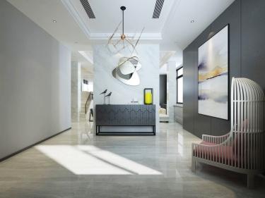 这样的婚房你喜欢吗?-名人府小区300平米别墅现代装修案例
