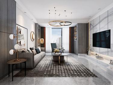 大宅里的现代生活 260㎡现代别墅-花语墅小区260平米5室现代装修案例