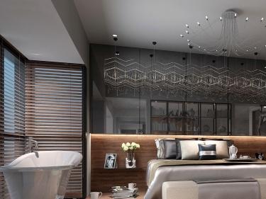山水间的宁静浪漫小屋-楠湖郦舍小区110平米2室现代装修案例