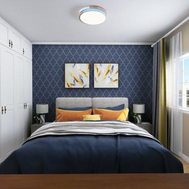 90平3室现代卧室