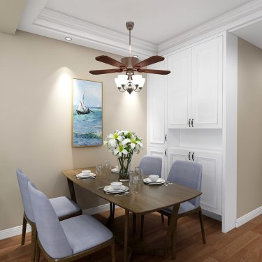 属于一家四口的现代风-东方名郡二期小区90平米3室现代装修案例