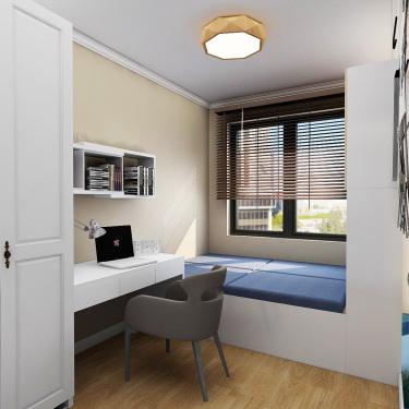 90平3室现代儿童房
