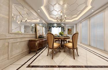 君悦湾欧式风格-君悦湾小区140平米4室欧式装修案例