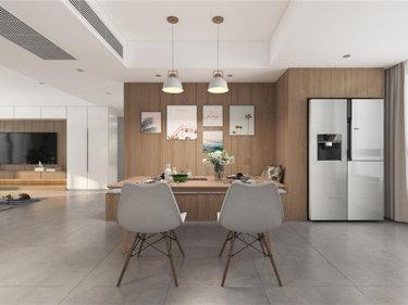 治愈的原木风,越简单越温暖-御景名宅小区130平米4室北欧装修案例