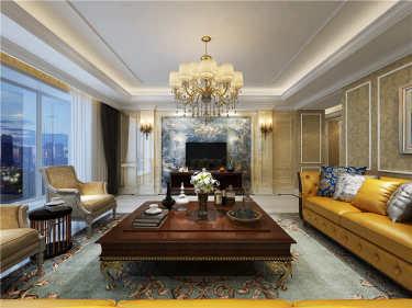 奢华的欧式浪漫 350平私家大宅享受高品位生活-首开常青藤小区350平米别墅欧式装修案例
