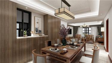 禅意新中式   清雅内敛的东方意境-星公元名邸小区165平米4室新中式装修案例
