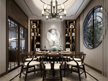 体验苏式园林生活,如诗如画-阳澄苏园小区236平米别墅新中式装修案例